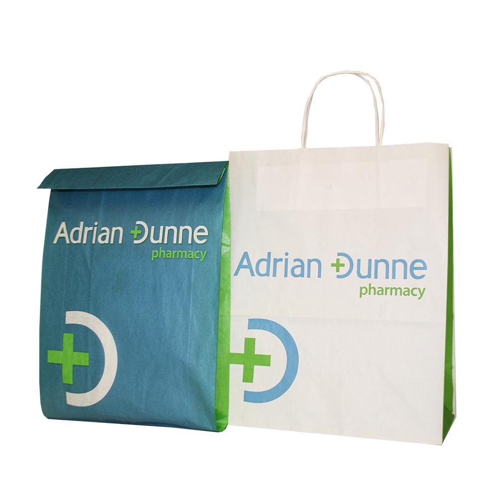 Adrian Dunne Pharmacy Bags Pharmacy Carrier Bag Barry
