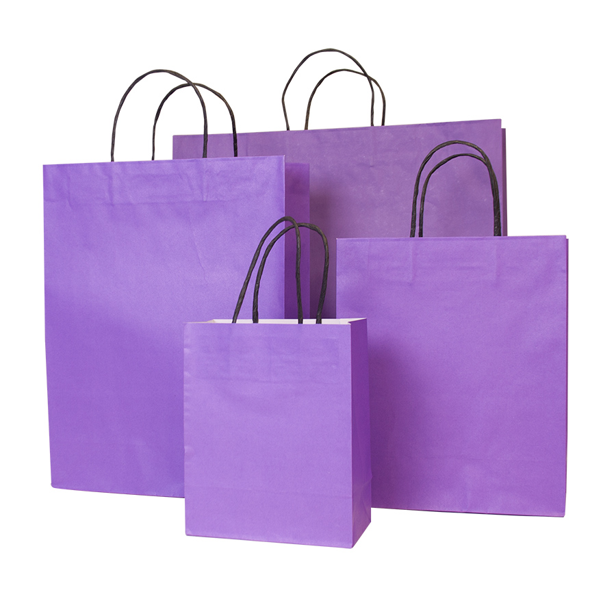 Purple Paper Carrier Bag Vibrant Paper Bags Barry
