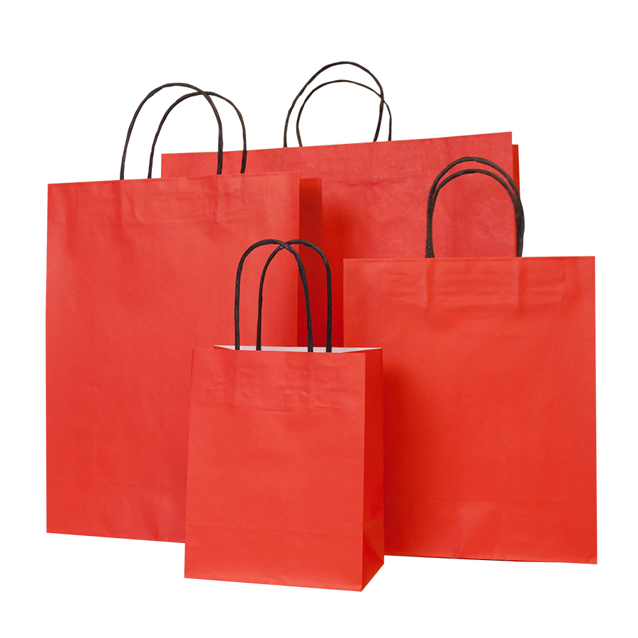 Red Paper Carrier Bag Vibrant Paper Bags Barry Packaging