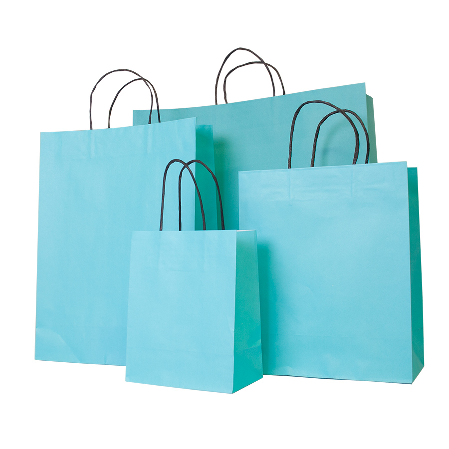 Turquoise Paper Carrier Bag Barry Packaging