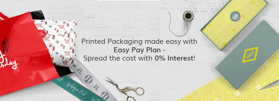 Printed Packaging made easy with Easy Pay Plan - spread the cost with 0% Interest!